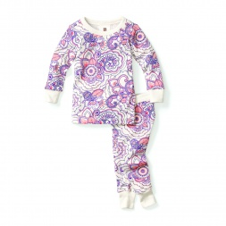 Henna Paisley Baby Pajamas for Girls | Tea Collection