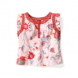 Baby Girls Jalsa Flutter Top | Tea Collection