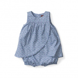 Diya Blue Romper Dress for Baby Girls | Tea Collection