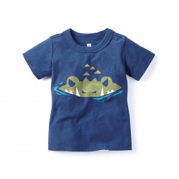 Sneaky Croc Graphic Tee Shirt for Baby Boys | Tea Collection