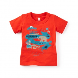 Baby Boy Kabini Safari Graphic Tee Shirt | Tea Collection