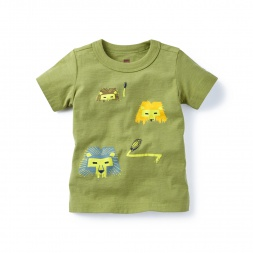 Indian Lion Graphic Tee for Baby Boys | Tea Collection