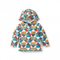 Patchwork Tile Happy Hoodie for Baby Boys | Tea Collection
