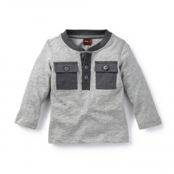 Baby Boy Vishesh Pocket Henley Shirt | Tea Collection