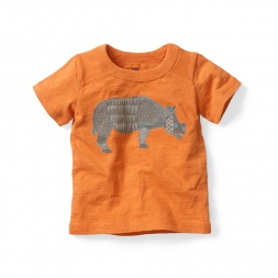 Kantha Rhino Graphic Tee Shirt for Baby Boys | Tea Collection