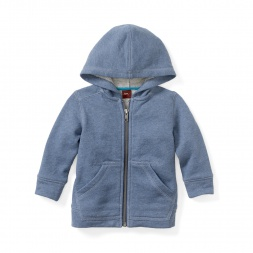 Baby Boy Heathered Baby Zip Hoodie | Tea Collection