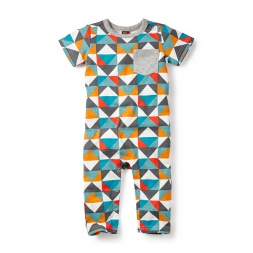 Patchwork Tile Romper for Boys | Tea Collection