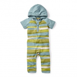 Baby Boy River Safari Hooded Romper | Tea Collection