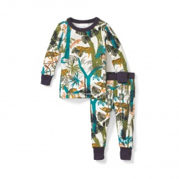 Lazing Leopards Baby Pajamas for Baby Boys | Tea Collection