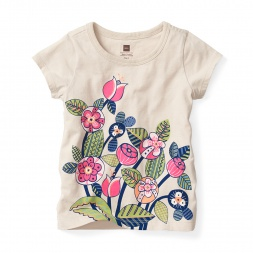 Gorumara Flora Graphic Tee Shirt for Girls | Tea Collection