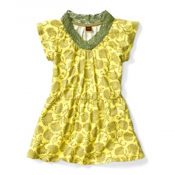 Kali Crochet Neck Dress for Girls | Tea Collection