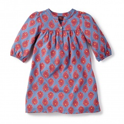 Girls Odisha Paisley Mini Dress | Tea Collection