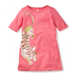 Girls Calico Tiger T-Shirt Dress | Tea Collection