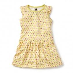 Ishya Flutter Dress for Girls | Tea Collection