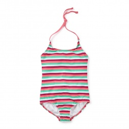 Kapu Beach Halter One-Piece Girls Swimsuit | Tea Collection