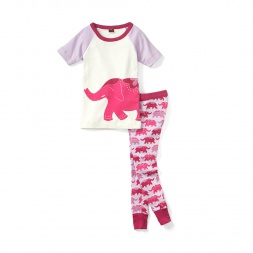 Elephant Ride Pajamas for Girls | Tea Collection
