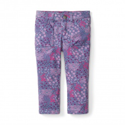 Abani Garden Slim Utility Pants for Girls | Tea Collection