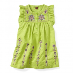 Little Girls Malati Kantha Embroidered Dress | Tea Collection