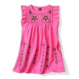 Little Girls Malati Kantha Embroidered Dress | Tea Collection