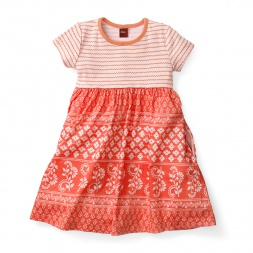 Girls Jaipur Ghats Stripe Dress | Tea Collection