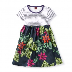 Jungle Ghats Dress for Little Girls | Tea Collection