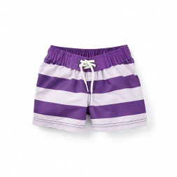 Girls Swimmer Stripe Board Shorts | Tea Collection