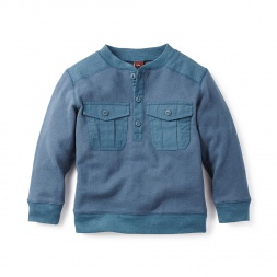 Little Boys Himalayan Henley Popover | Tea Collection