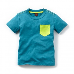 Contrast Pocket Tee for Boys | Tea Collection