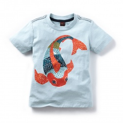 Kantha Fish Graphic Tee Shirt for Boys | Tea Collection