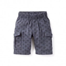 Woodblock Knit Cargo Shorts for Boys | Tea Collection