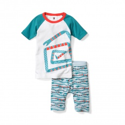 Slithering Snakes Pajamas for Little Boys | Tea Collection