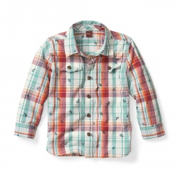 Boys Kamya Plaid Shirt | Tea Collection
