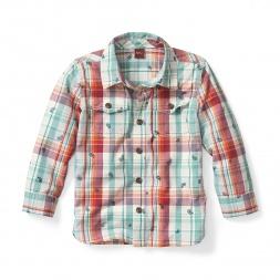 Boys Kamya Plaid Shirt | Tea Collection