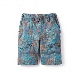 Little Boys Forest Camo Ripstop Shorts | Tea Collection