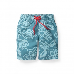 Boys Arnav Paisley Board Shorts | Tea Collection