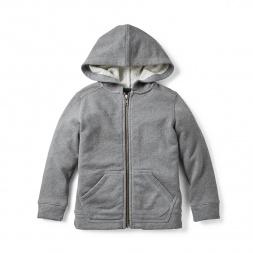 Heathered Zip Hoodie for Girls | Tea Collection