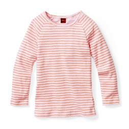 Western Ghats Ribbed Tee Shirt for Girls | Tea Collection
