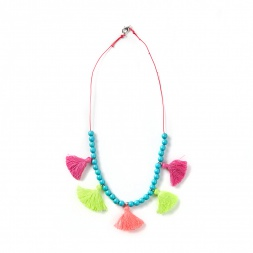 Everbloom Tassel Bead Necklace | Tea Collection