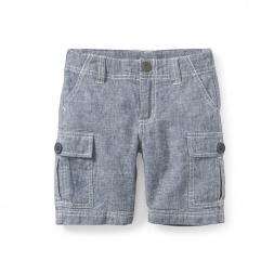Chambray Cargo Shorts | Tea Collection