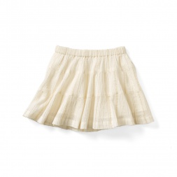 Maira Metallic Crinkle Skirt | Tea Collection