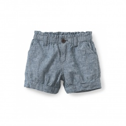 Chambray Bubble Shorts | Tea Collection