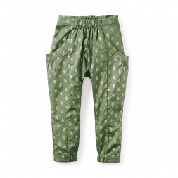 Metallic Print Harem Pants | Tea Collection