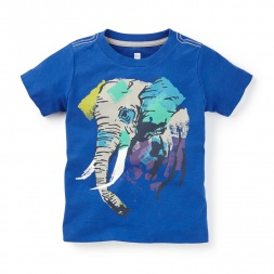 Holi Elephant Graphic Tee | Tea Collection