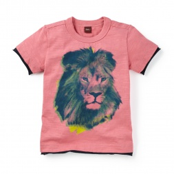 Gujarat Lion Photo Tee | Tea Collection