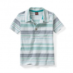 Gagan Stripe Polo | Tea Collection