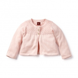 Zahra Pointelle Cardigan | Tea Collection
