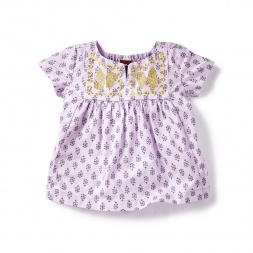 Siya Metallic Embroidered Baby Top | Tea Collection