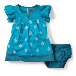 Hill Palace Embroidred Baby Dress | Tea Collection