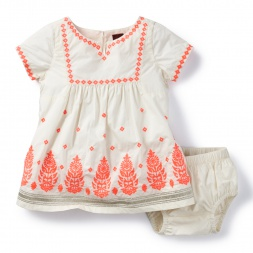 Taj Mahal Embroidered Baby Dress | Tea Collection