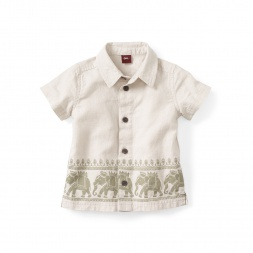 Balarama Border Baby Shirt | Tea Collection